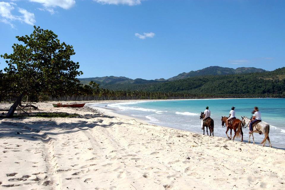 La plage de Rincon , République dominicaine
