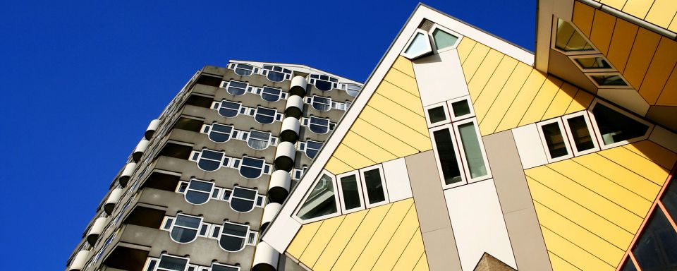 The cube houses rotterdam the netherlands for Hotel amsterdam cube