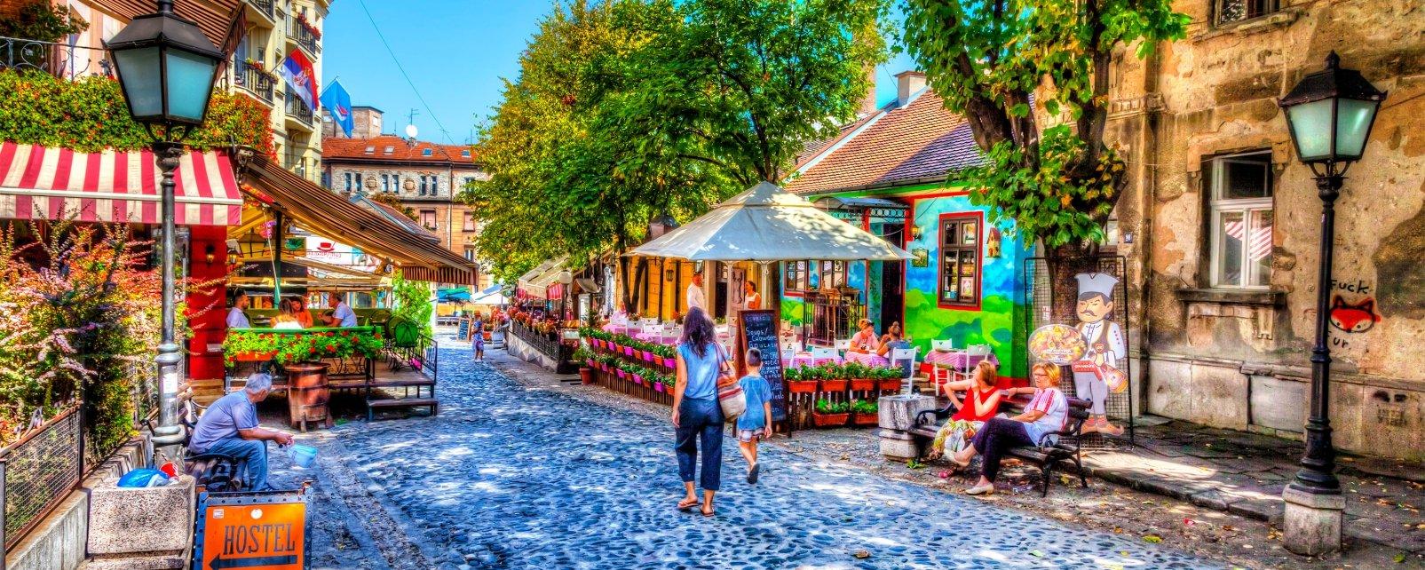 Le quartier Bohème, I monumenti e le passeggiate, Serbia