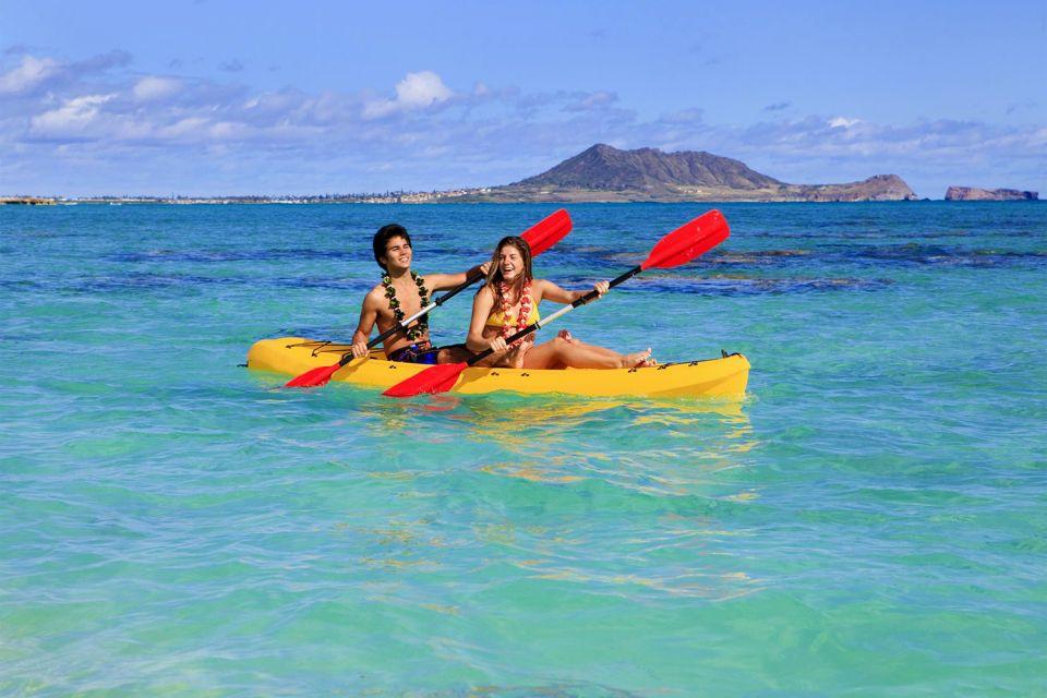 Les îles et les plages, Lanikai, plage, hawaii, amérique, usa, états-unis, oahu, canoé, kayak, sport