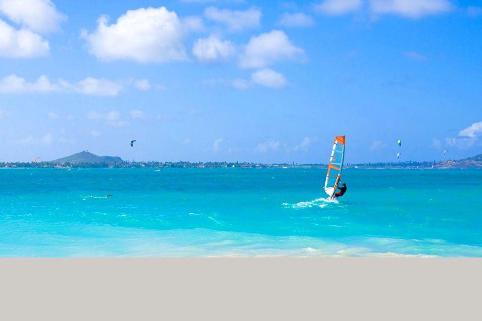 Les îles et les plages, Lanikai, plage, hawaii, amérique, usa, états-unis, windsurf, planche à voile, glisse, sport