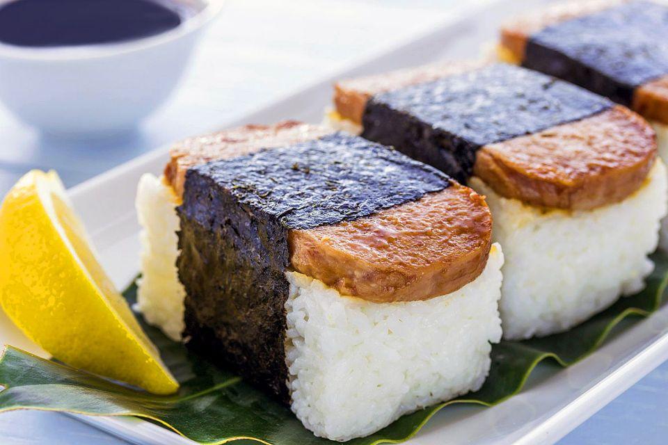 La gastronomie, cuisine, alimentation, gastronomie, hawaï, etats-unis, USA, amérique, musubi