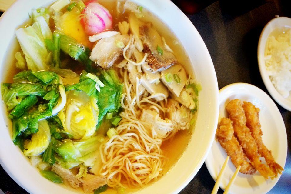 La gastronomie, alimentation, nourriture, USA, amérique, etats-unis, recette, hawaii, hawaii, soupe, saimin, crevette