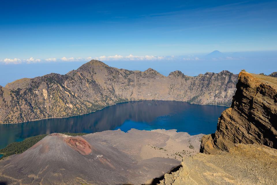 Il Monte Rinjani , Indonesia