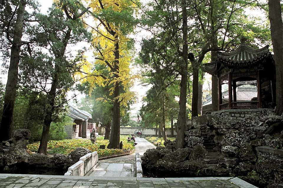 Le Parc des Collines parfumées (Xiangshan) , Une balade dans le parc , Chine