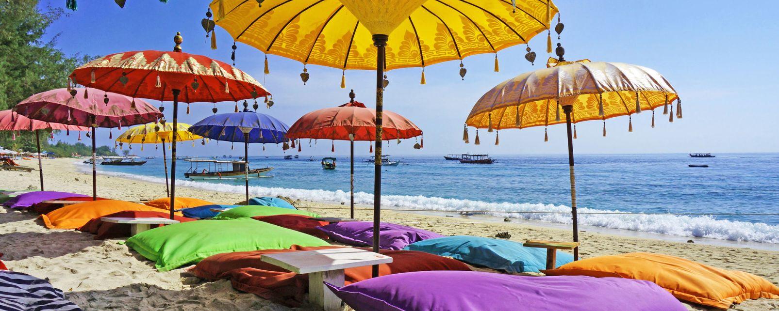 , Les îles Gili, Les côtes, Lombok