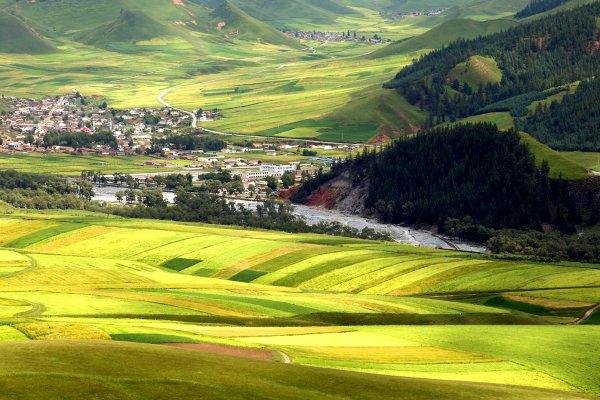 Le Gansu , Chine