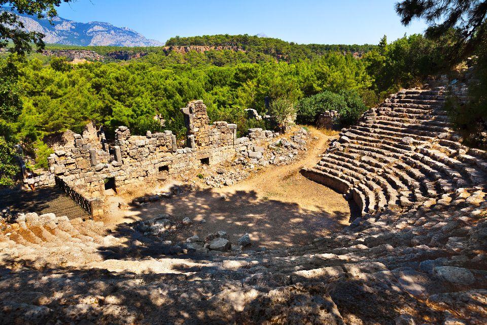 La cité antique de Phaselis , La situation de Phaselis , Turquie