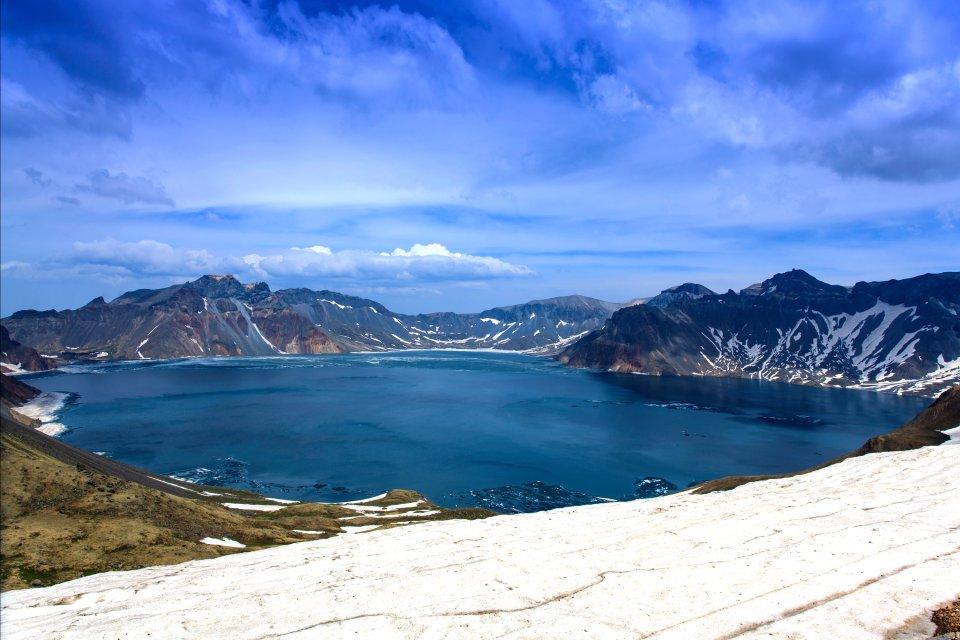 La route d'Urümqi , Le lac Tianchi , Chine