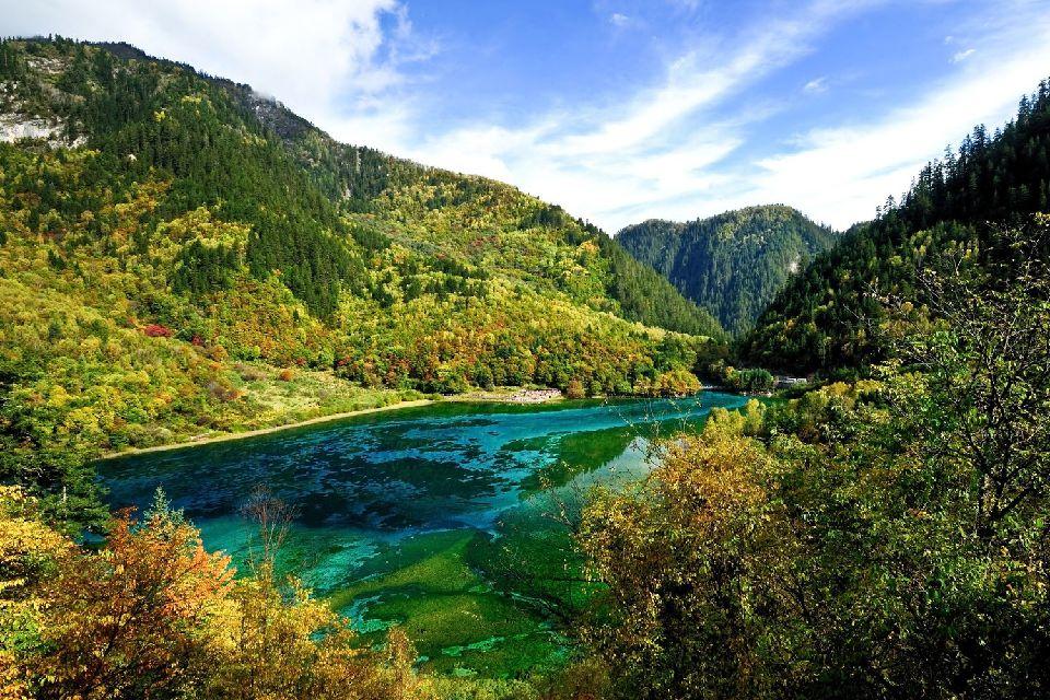La vallée de Jiuzhaigou , Un site classé par l'Unesco , Chine