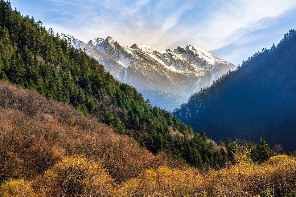 La vallée de Jiuzhaigou , Réserve de biosphère , Chine