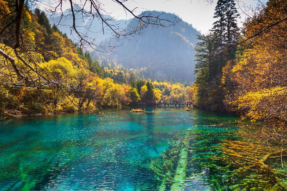 La vallée de Jiuzhaigou , Chine