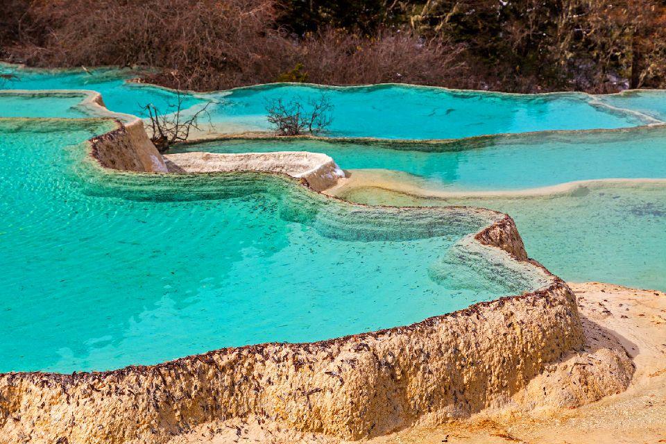 La vallée de Jiuzhaigou , Piscine naturelle , Chine