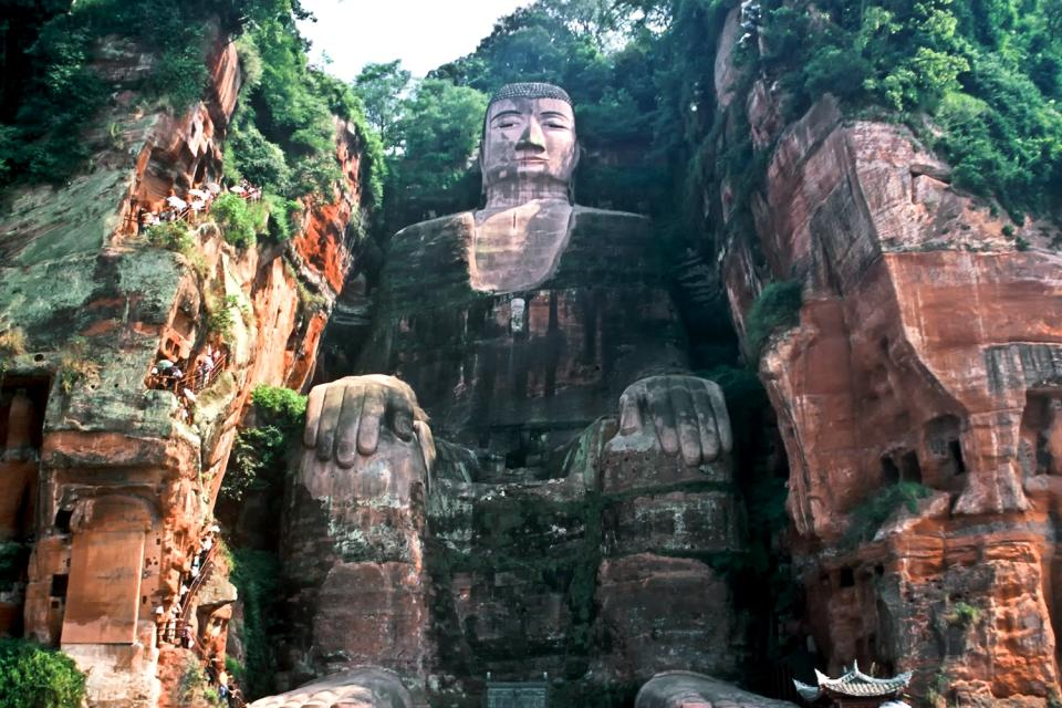 Le grand Bouddha de Leshan , Un spectacle fascinant , Chine