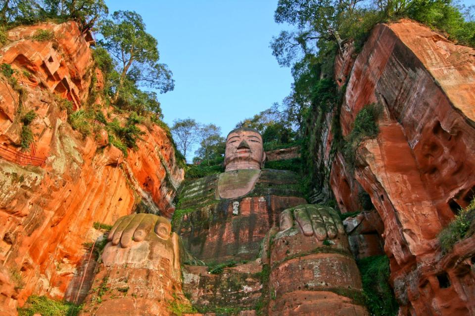 Le grand Bouddha de Leshan , Le plus grand du monde avant le XXe siècle , Chine