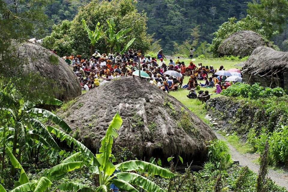 La vallée de Baliem , Indonésie