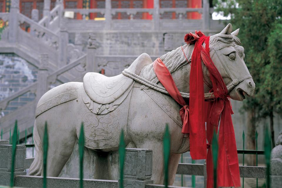 Le Temple des Chevaux Blancs , La légende du cheval afghan , Chine