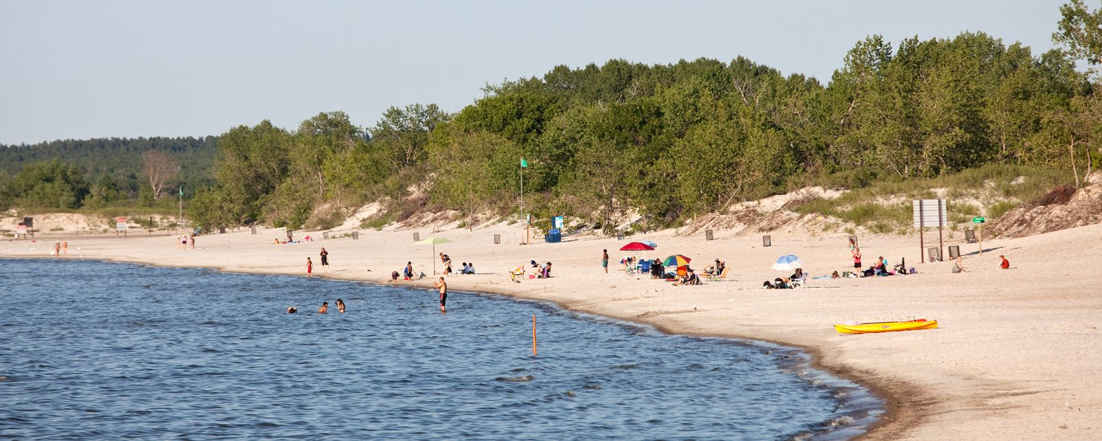 Les paysages, Lake Winnipeg, Grand Beach Provincial Park, Manitoba, grand Beach, Canada, amérique, plage, été