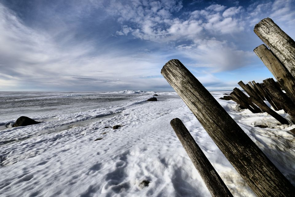 Les paysages, Lake Winnipeg, Grand Beach Provincial Park, Manitoba, grand Beach, Canada, amérique, plage, glace
