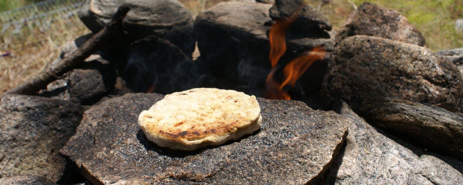 La gastronomie, bannock, alimentation, pain, cuisine, manitoba, canada, nourriture, amérique