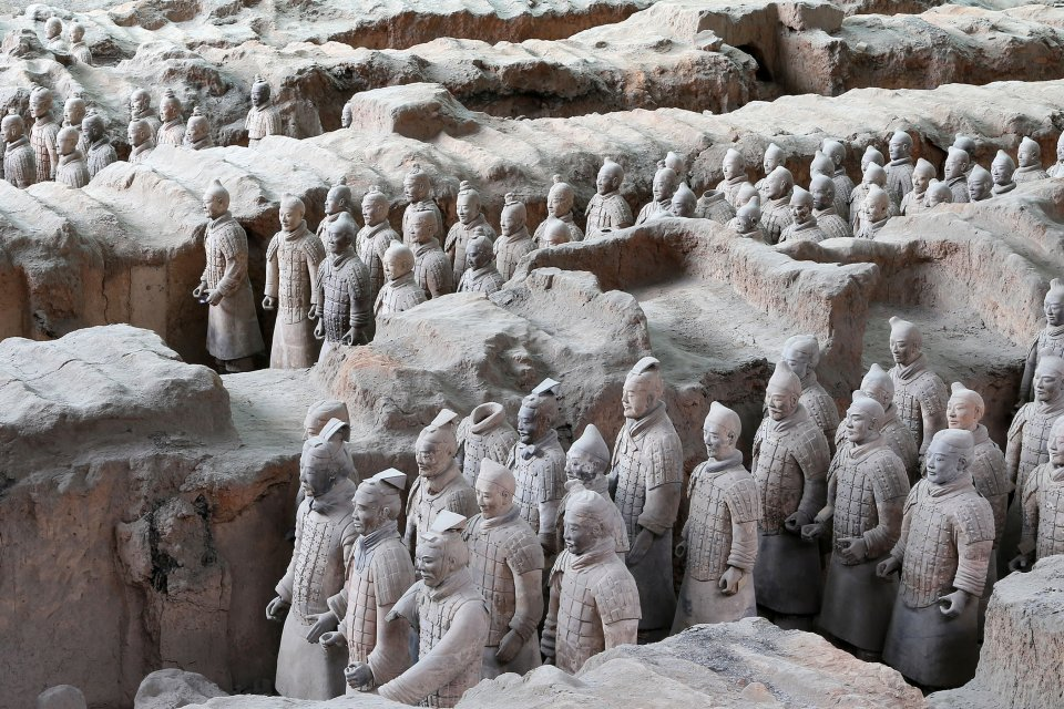 Emperor Qin's buried army , Pit n°1 , China