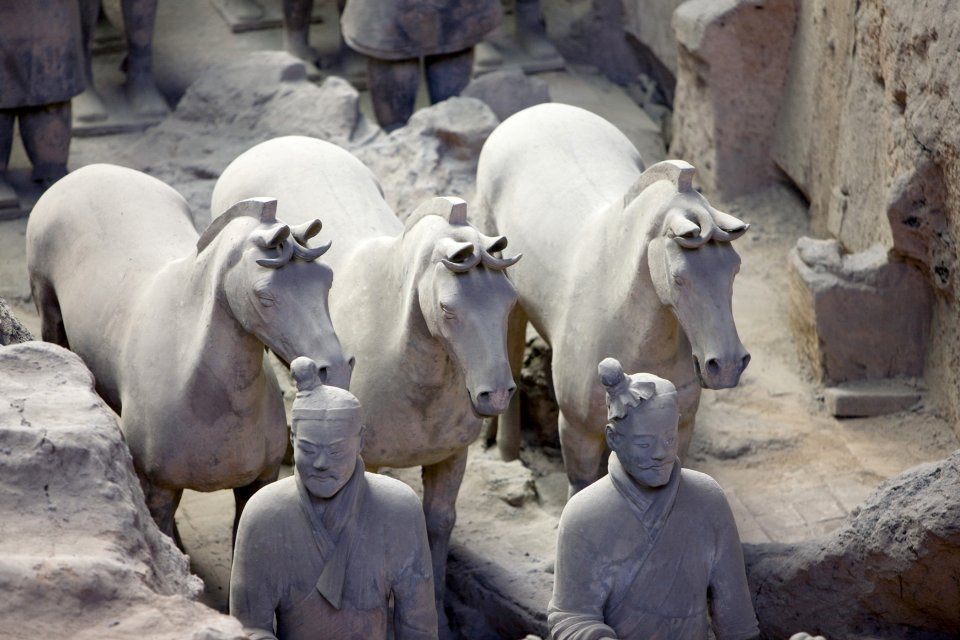 Emperor Qin's buried army , Individualisation of the figurines , China