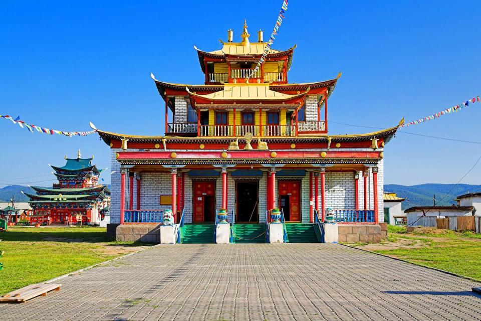 Le temple bouddhiste Datsan d'Ivolguinsk , Russie