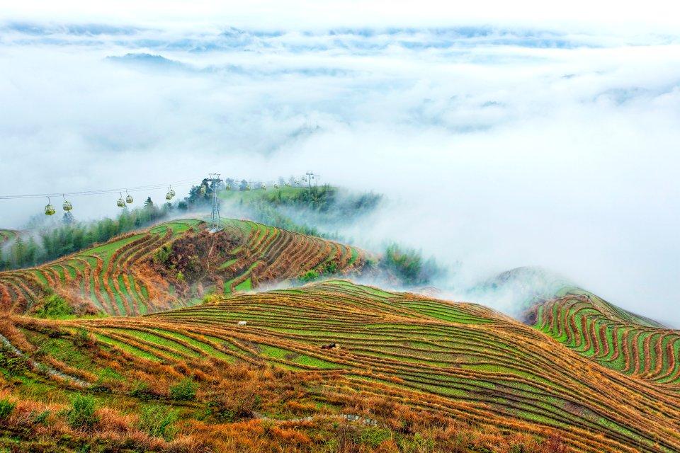 Les cultures en terrasses de Jinkeng , Les 5 villages de Jinkeng , Chine