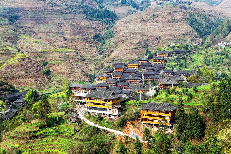 Les cultures en terrasses de Jinkeng , Minorités ethniques du Guangxi et du Guizhou , Chine