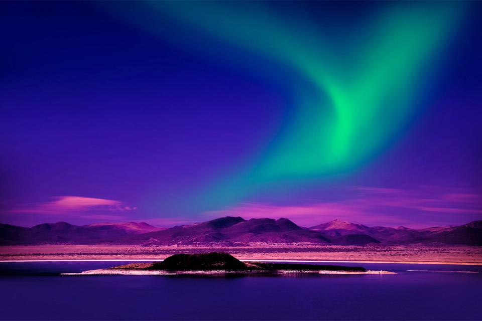 The aurora borealis , Canada