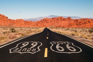 , Route 66, Landscapes, Chicago, Midwestern USA