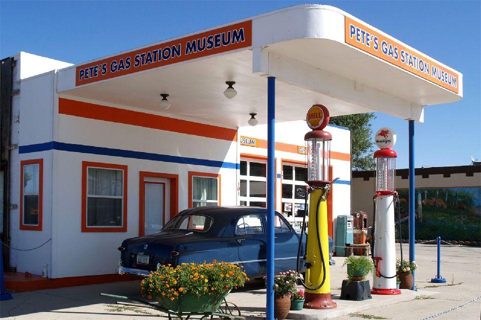 La Route 66 , Une station service musée , Etats-Unis
