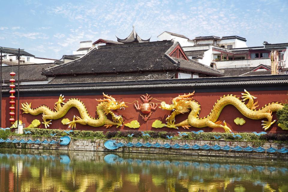 Der Konfuzius-Tempel in Nanjing , China