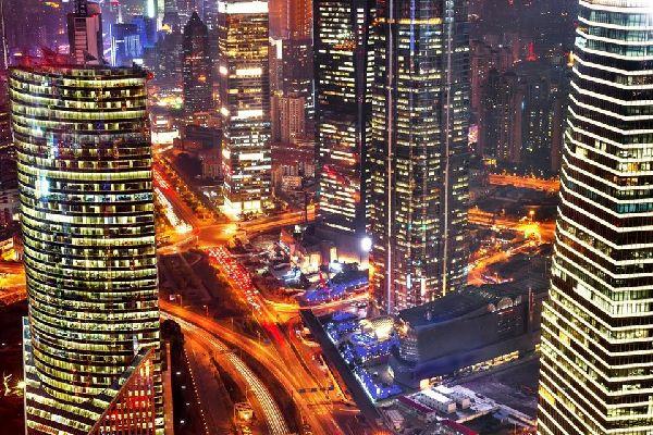 I grattacieli del quartiere Pundong , Cina