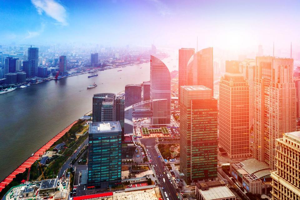 Croisière sur le fleuve Huangpu à Shanghai , Chine