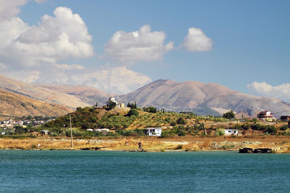 Der Butrint-See , Der Butrint-See, Albanien , Albanien