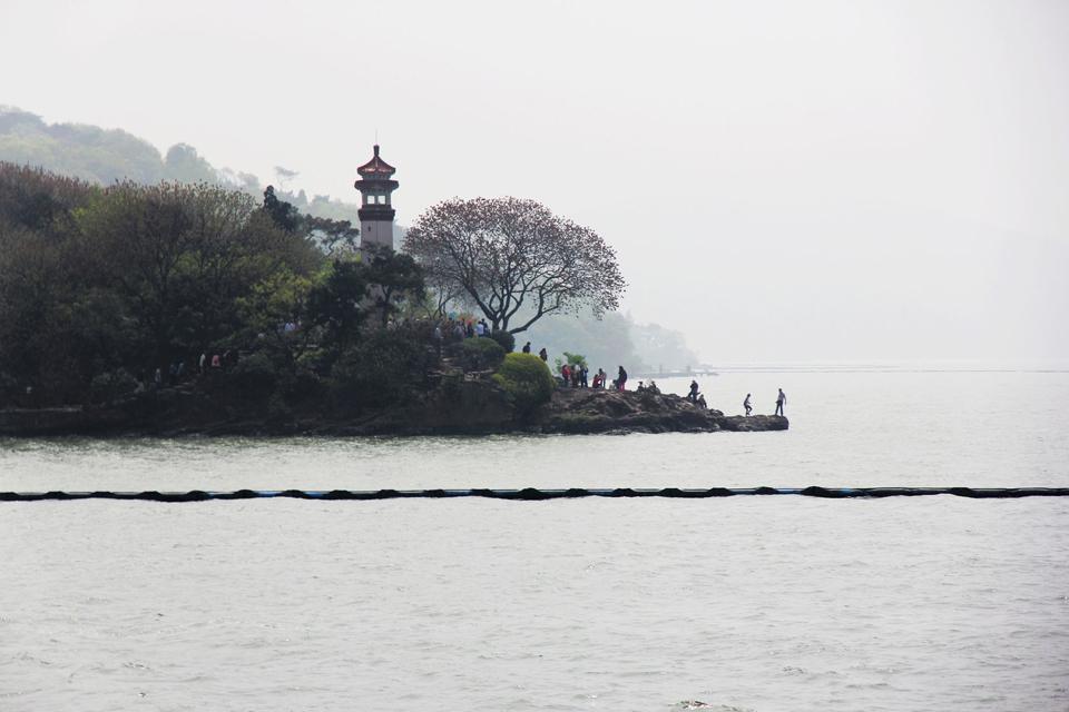 Lake Taihu in Wuxi , China