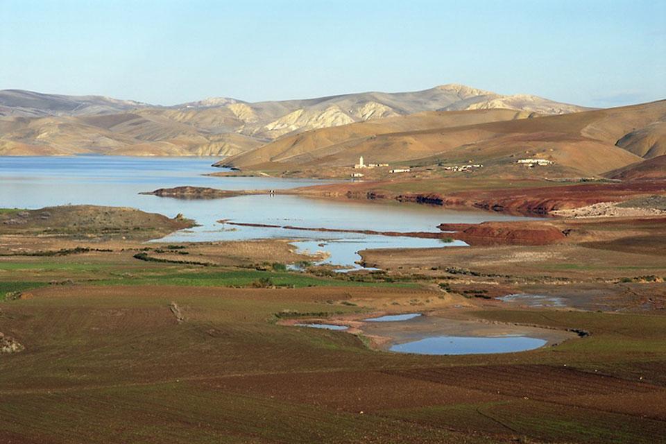 Le Moyen Atlas , Lac d'altitude , Maroc