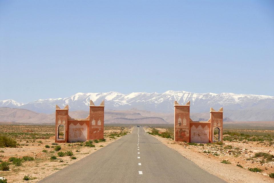 El Alto Atlas , Vista al Alto Atlas , Marruecos