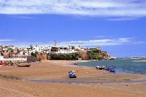 Les plages de Rabat , Vue sur l'Atlantique , Maroc