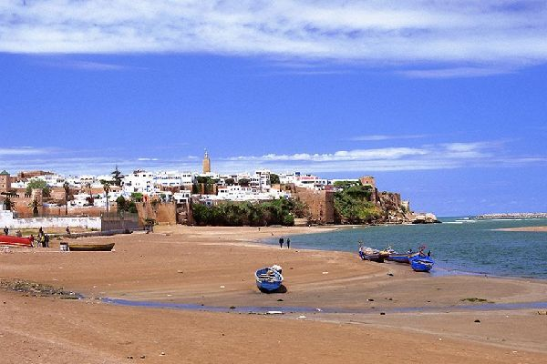 The beaches of Rabat , View over the Atlantic , Morocco
