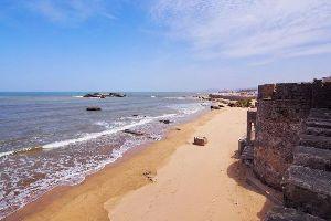 La plage d'Essaouira , Maroc