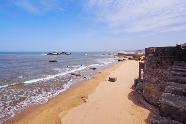 The beach at Essaouira , Morocco