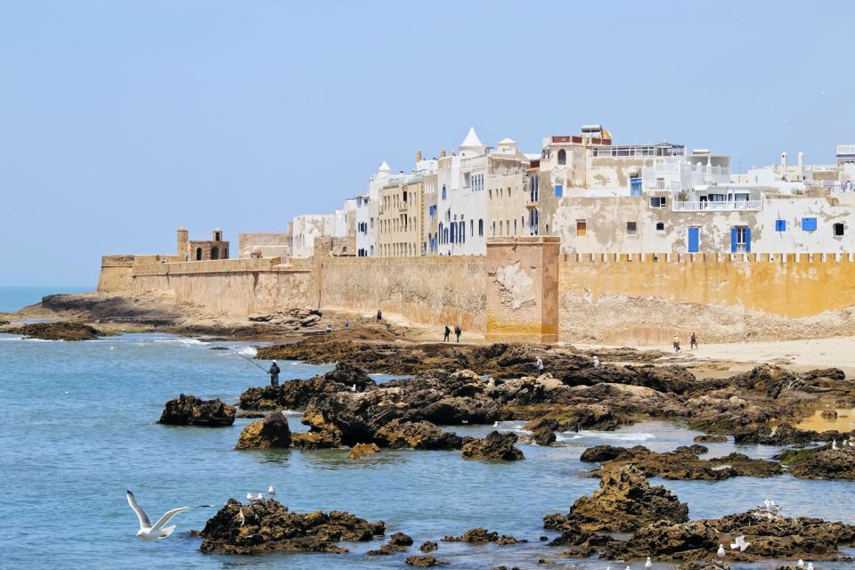 La plage d'Essaouira , Marocco