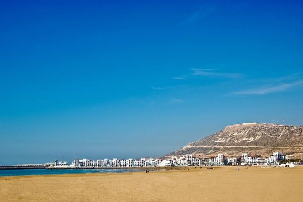Der Strand von Agadir , Marokko