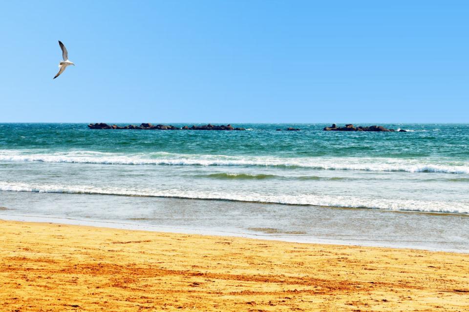 La plage d'Agadir , Maroc