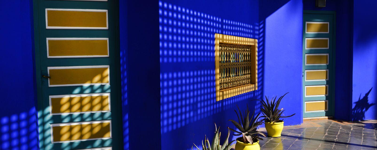 El jardín Majorelle, Arte y cultura, Marrakech, Marruecos el Centro