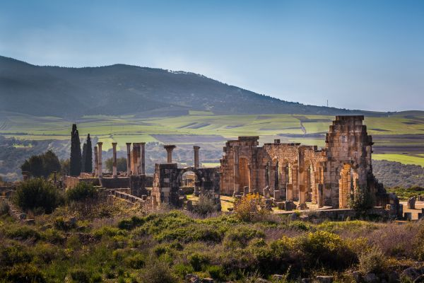 Roman ruins in Muslim lands, Morocco, The ruins of Volubilis, Arts and culture, Meknes, Central Morocco