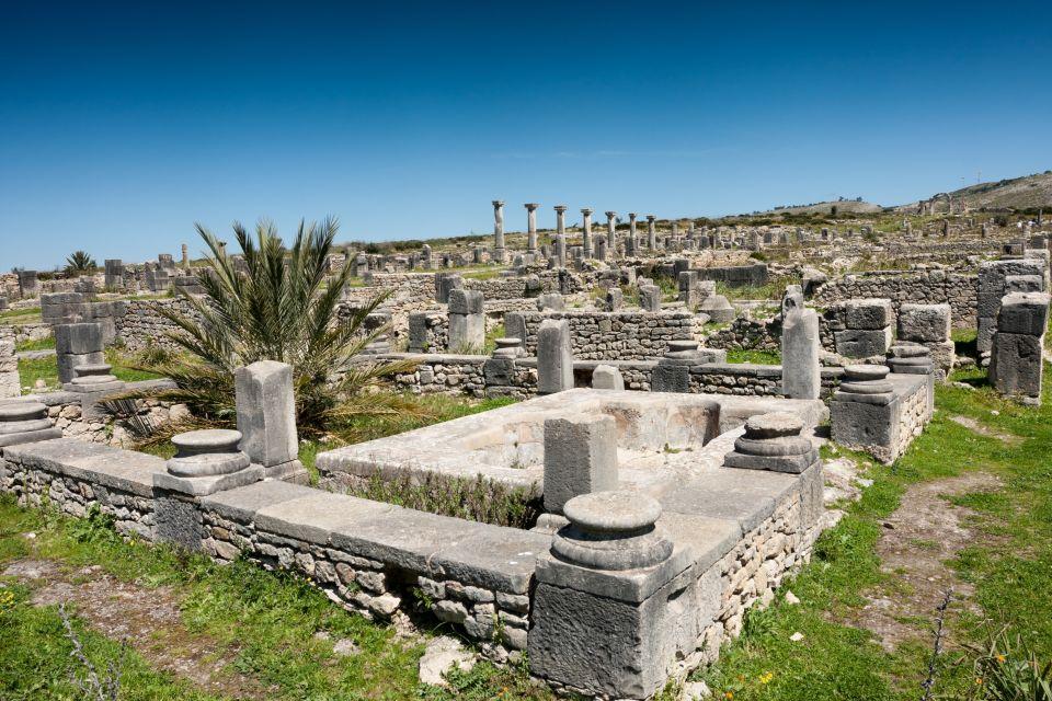 Perspectiva de las ruinas de Volubilis, Las ruinas de Volubilis, Arte y cultura, Meknes, Marruecos el Centro