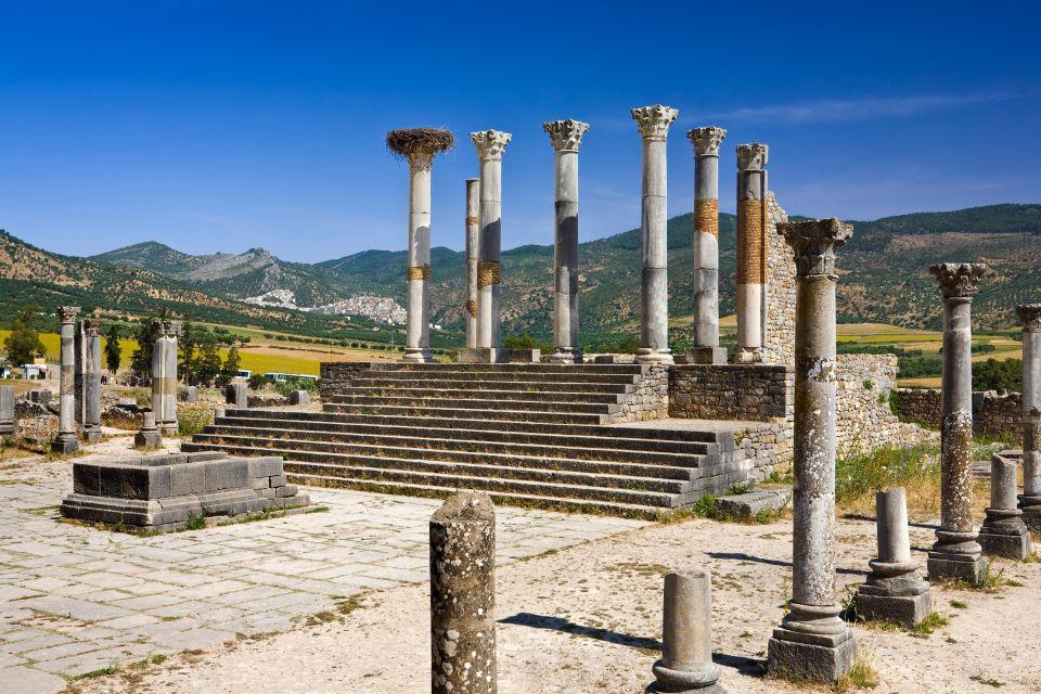 Las columnas de Volubilis, Las ruinas de Volubilis, Arte y cultura, Meknes, Marruecos el Centro